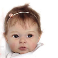 20 Inches Reborn Doll Kits, Clothes Body, Silicone Vinyl Head + 3/4 Limbs + Eyes