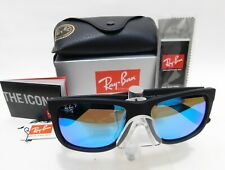 Rayban JUSTIN model 4165 622/55 Matt black/blue Mirror Polarized 54mm sunglasses