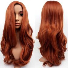 Full Auburn Women Ginger Mix Wong WavyWadies Wig Synthetic Fancy Wig Hair FA1