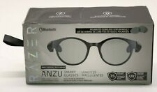 Razer Anzu Smart Glasses Small/Medium Round Frame Bundle w/Blue Light Filter NEW