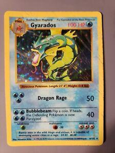 Shadowless Gyarados | Base Set 6/102 | Rare Holo - Damaged Pokemon card