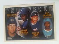 1996 Topps Vladimir Guerrero & Andruw Jones Prospects Rookie Card RC #435 MINT