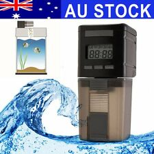 AU Automatic Fish Food Feeder LCD Aquarium Pet Tank Digital Auto Feeding Timer