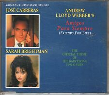 Sarah Brightman  & Jose Carreras  CD-SINGLE AMIGOS PARA SIEMPRE (c) 1992