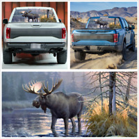 Large Size 22x65'' Rear Window Decal Sticker Forest Moose Graphics For Car Truck