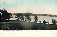 Hartford Wisconsin~Trees on Shore Line @ Pike Lake, Looking East~1912 Postcard