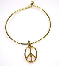 ORIGINALE VINTAGE USA 1960er Hippie Polso Bracciale con Pace Simbolo