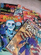 Charlton Silver-Bronze Age THE PHANTOM 5 pc High Grade Comic Lot