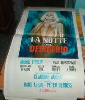 LA NOTTE DEL DESIDERIO locandina originale 1964 INGRID THULIN