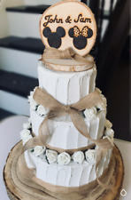 Custom Cake Topper Disney Wedding Mickey and Minnie Mr & Mrs Any Text Engagement