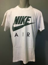 Vtg 80s 90s Nike Air Grey Tag T-shirt Mens XL White Cotton Green Swoosh Logo USA