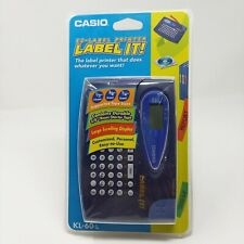 New CASIO Label It! EZ Label Printer Model KL-60-L Sealed