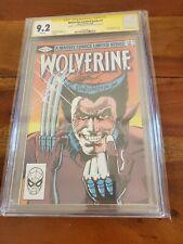Wolverine Limited Series #1 CGC 9.2 1982 Signed Claremont & Rubinstein 1st Solo