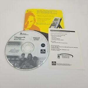 Texas Instruments TI-83 Plus TI Resource CD ROM Software for Windows & Macintosh