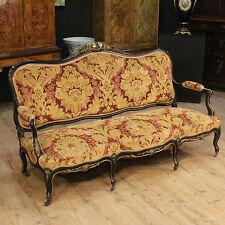 Divano francese scolpito laccato dorato salotto sofà stile antico poltrone 900