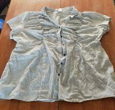 Motherhood Maternity Women's Striped Dress Shirt Size US 3X