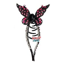 NEW Fancy Rhinestone Crystal butterfly metal hair Clip Hair Claw Hairpin