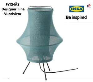 """Ikea Table lamp turquoise 17""""  FYXNÄS Designer  Iina Vuorivirta"""
