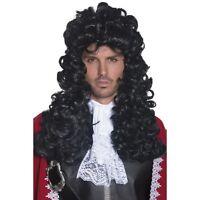 non incluso REGNO UNITO SPEDIZIONE Stile pirata Lunga Nera Ondulata Costume Parrucca Cappello