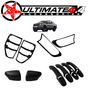 Cosmetic Black Out Kits 4pc suits FORD RANGER PX2 & PX3 2015+