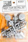 Tichy Train Group HO Scale 3007 Tank Car Detail Set Plastic Parts