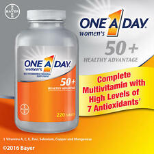 220 One A Day Women's 50 + Healthy Advantage Multivitamin 1 Daily Vitamin 200 ct