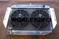 Aluminum radiator + fan for JEEP CHEROKEE / WAGONEER J10 J20 5.9 V8 1972-1988