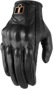 Icon Pursuit Classic Gloves - Motorcycle Street Bike Riding Leather Summer Mens