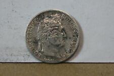 Monnaie france demi franc 50 centimes 1845 B louis philippe argent rare