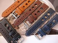 THICK LEATHER STRAPS WILL LOOK GREAT ON YOUR VINTAGE SICURA DIVE/ MILITARY