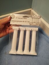 "NEW Wilton 5"" Grecian Pillars for Cake Decorating"