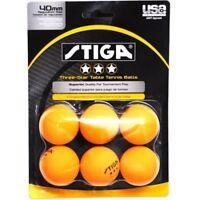 Stiga Three-Star Orange Table Tennis Balls