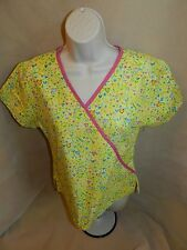 Scrub HQ Hearts Yellow Hot Pink Top - XS - Extra Small
