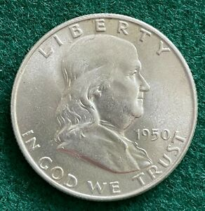 1950 FRANKLIN HALF DOLLAR 50 CENTS SILVER #2 EARLY DATE NICE COIN FOR A SET