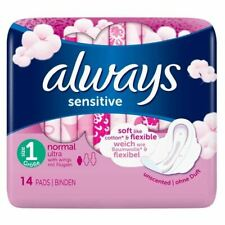 Always Sensitive Normal Ultra With Wings - 14 Pads