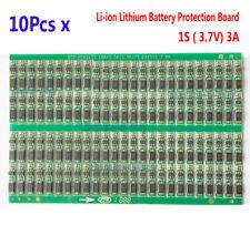10PCs 3.7V 4.2V 3A 1S Li-ion Batería de litio 18650 Cargador placa PCB de protección