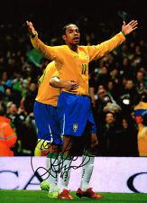 ROBINHO - Robson de Souza SIGNED Autograph Brazil Football Huge Photo AFTAL COA