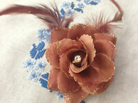 Feather Fascinator Beak Clip & Brooch Pin Corsage Wedding Hair Accessories