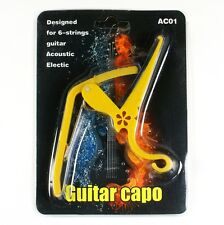 D26 New Quick Change Acoustic/ Electric Guitar Capo lightweight Yellow