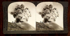 VOLCANIC ERUPTION IN JAVA DUTCH EAST INDIES Stereoview ca.1908