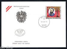 AUSTRIA 1 BUSTA PRIMO GIORNO FDC ORTOPEDIA 1997