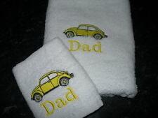 PERSONALISED VW BEETLE TOWEL SET