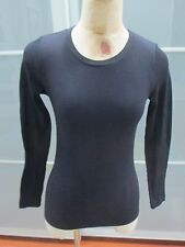 Bordeaux Seamless Crewneck Long Sleeve Ribbed Stretch Top One Size Fits All