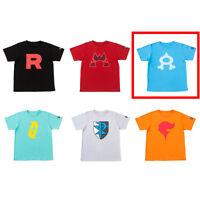 Pokemon Center Original SECRET TEAMS T-shirt collection Team Aqua Free size