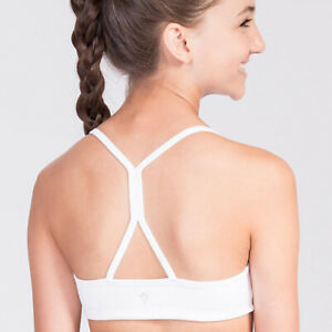 ivivva by Lululemon Girls Drill Sports Bra in White Size 12