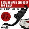 F8X Carbon Fiber Rear Bumper Diffuser Lip Fit for BMW M3 M4 2015-17 UV