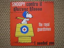 SNOOPY CONTRO IL BARONE ROSSO THE ROYAL GUARDSMEN DISCO 45'' VARIETY RED BARON
