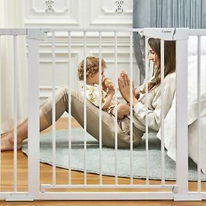 """Cumbor 46"""" Auto Close Safety Baby Gate, Extra Tall and Wide Child Gate"""