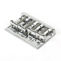 Kmise Electric Bass Guitar Bridge for Precision Jazz Bass 201B-4 Badass Chrome
