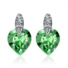 Alloy Crystal White Gold Plated Costume Earrings